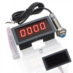 LED 4 Tachometer RPM Speed Normally Open NPN Hall Proximity Switch Sensor 3 Wire