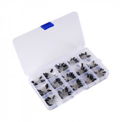 Electrolytic Capacitor Kit (15 Kinds, 200 pcs)