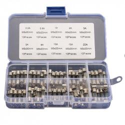 5x20 mm Fuse Kit (0.2 - 20 A, 100 pcs)