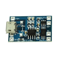 TP4056 Micro USB LiPo Charger with Protection (1 A)