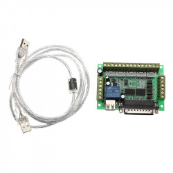 5 Axis Stepper Motor Driver Board Compatible with MACH3 CNC (3 A)