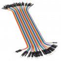 20 cm 40p Male to Female Wire