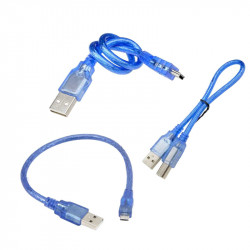 30 cm USB AM-B Mini Blue Cable for Arduino Nano