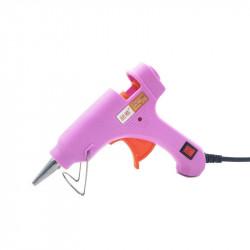 20W Glue Gun with Switch(Pink)