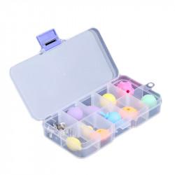 Plastic Box with 10 Compartments (12.8 x 6.5 x 2.3 cm)