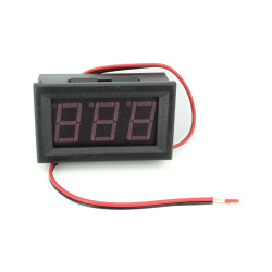 2 Wire DC Voltmeter Panel 0.56'' (Red)