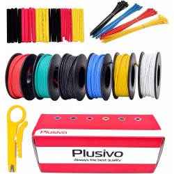 Hookup Wire Kit (6 colors, 7 m each, AWG 22, Stranded Wire) Silicone Jacket