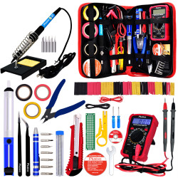 Plusivo Soldering Iron Kit with Digital Multimeter (220-230 V, Plug Type A)