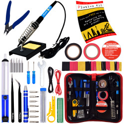 Plusivo Soldering Kit with Diagonal Wire Cutter (220-230 V, Type A Plug)