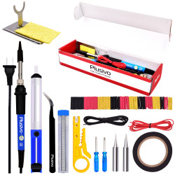 Plusivo Basic Soldering Kit for Electronics (220-230 V, Plug Type A)