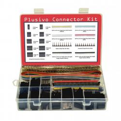 Plusivo Dupont Connector Kit - 1004 pcs Crimp Connector Kit with Dupont Wire Connectors and Ribbon Cable