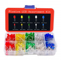 Plusivo 3 mm and 5 mm Diffused LED Light Emitting Diode Assortment Kit