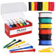 Plusivo 22AWG Hook up Wire Kit - Pre-Tinned Solid Core Wire of 6 Different Colors x 10 m (33 ft) each