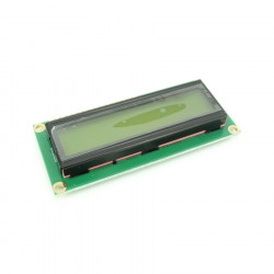 1602 LCD with Yellow-Green Backlight and I2C Interface
