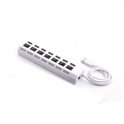 7 ports USB 2.0 HUB - White