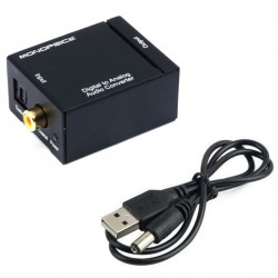 Digital to Analog Audio Converter with Optical and Coaxial Input and RCA Output