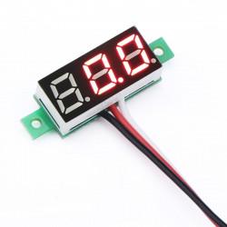0-30 V Red Panel Voltmeter