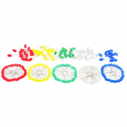 5mm Diffused LED pack Red Blue Green White Yellow 25pcs pack