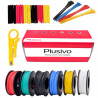 Plusivo Silicone Wire Kit (20AWG, 6 colors, 7m each)